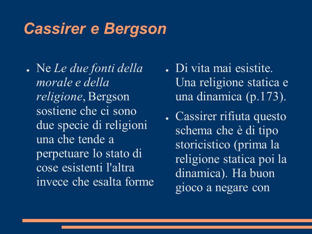 Cassirer e Bergson