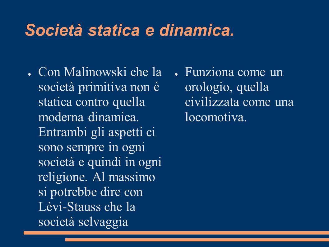 Società statica e dinamica.