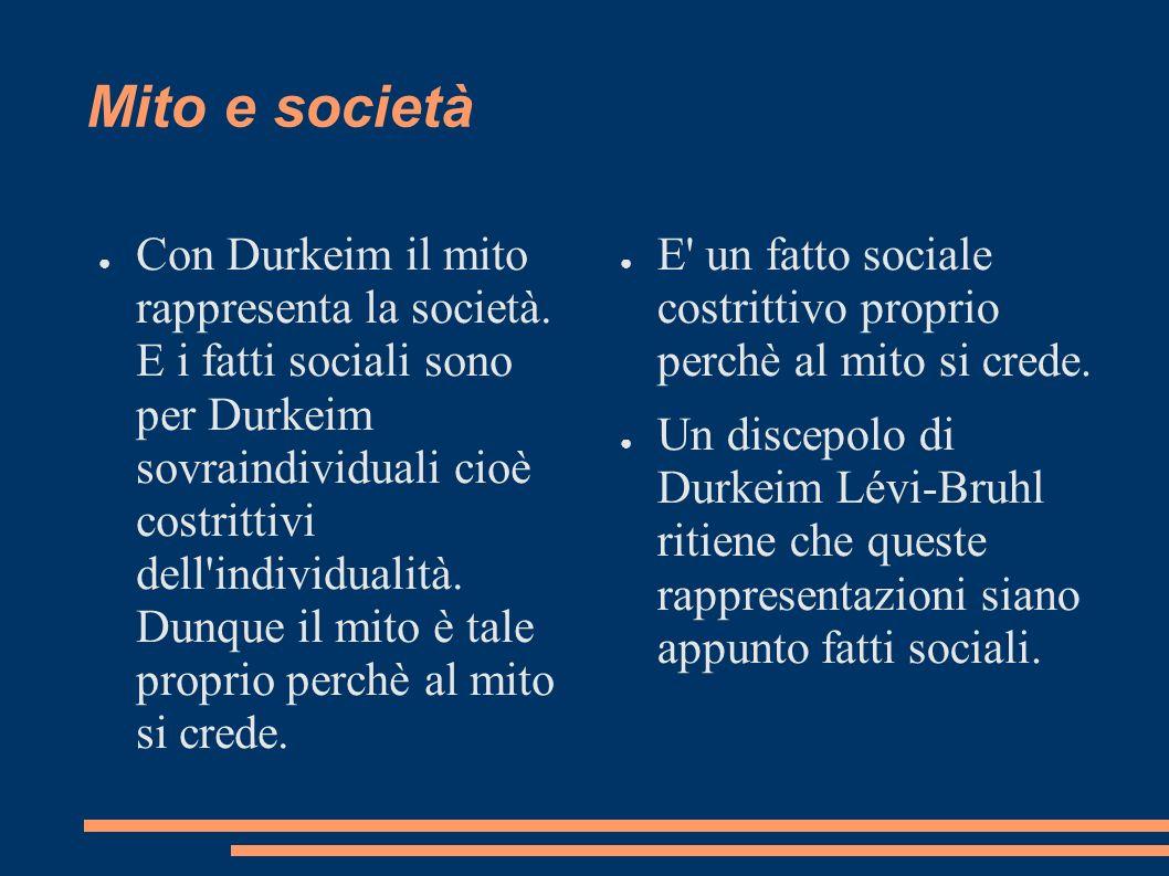 Mito e società