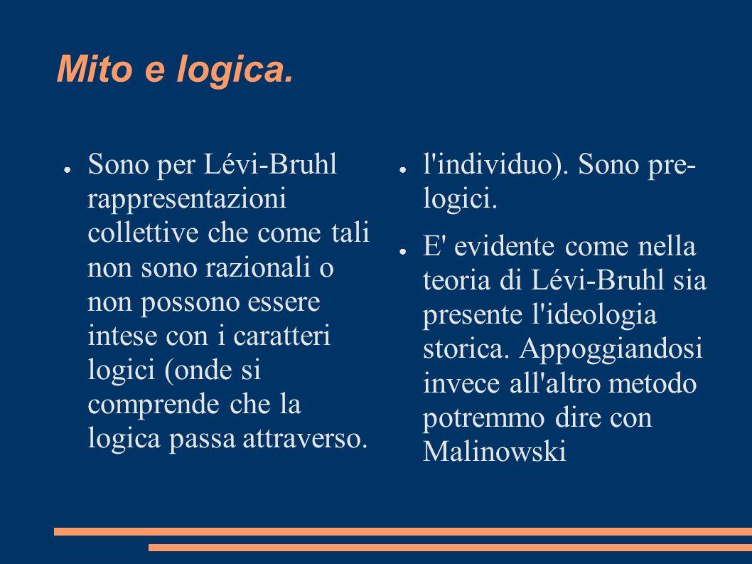 Mito e logica.