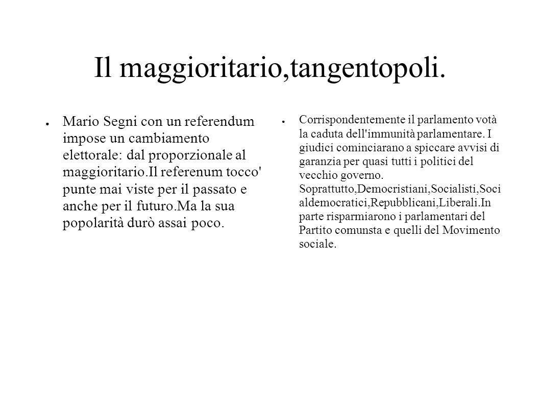 Il maggioritario,tangentopoli.