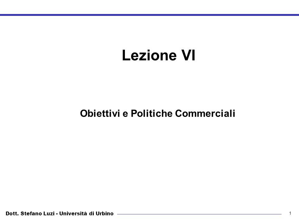 Obiettivi e Politiche Commerciali