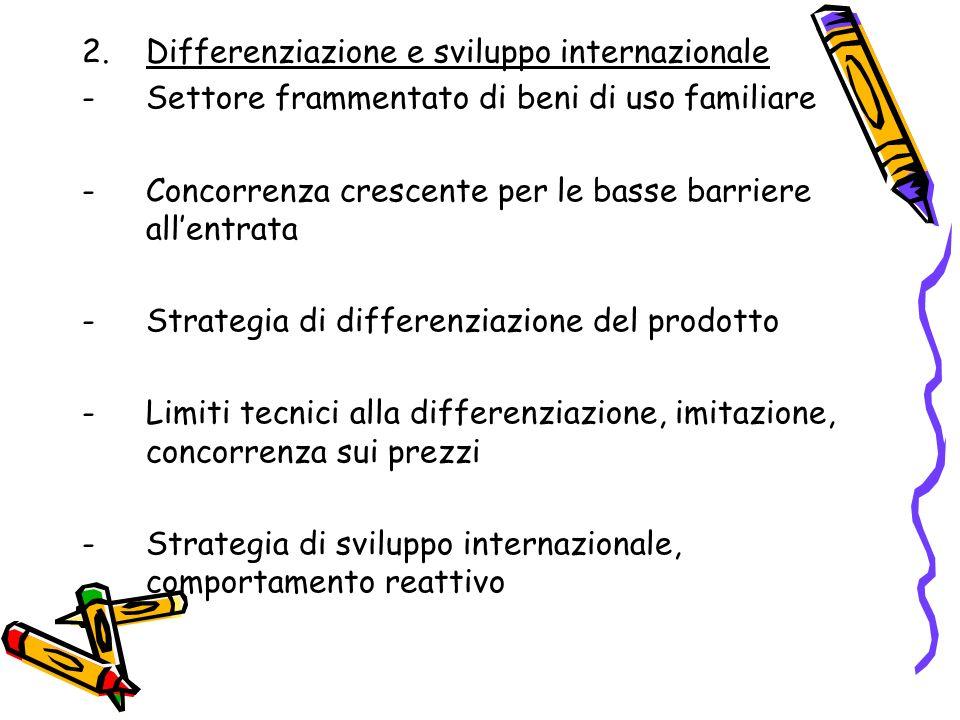 Differenziazione e sviluppo internazionale