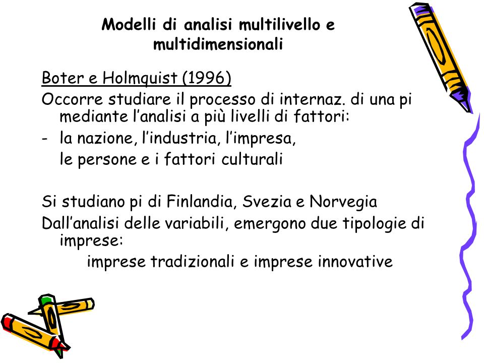 Modelli di analisi multilivello e multidimensionali