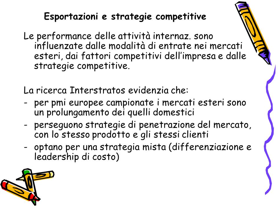 Esportazioni e strategie competitive