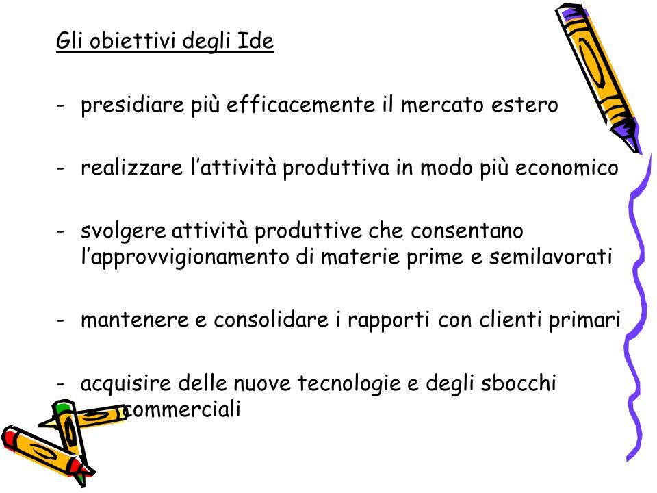 Gli obiettivi degli Ide