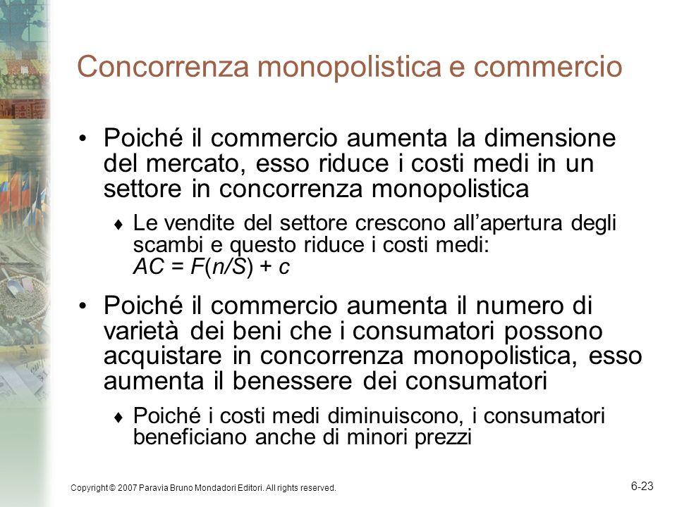 Concorrenza monopolistica e commercio