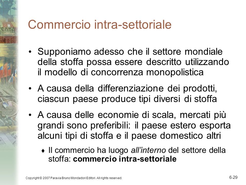 Commercio intra-settoriale