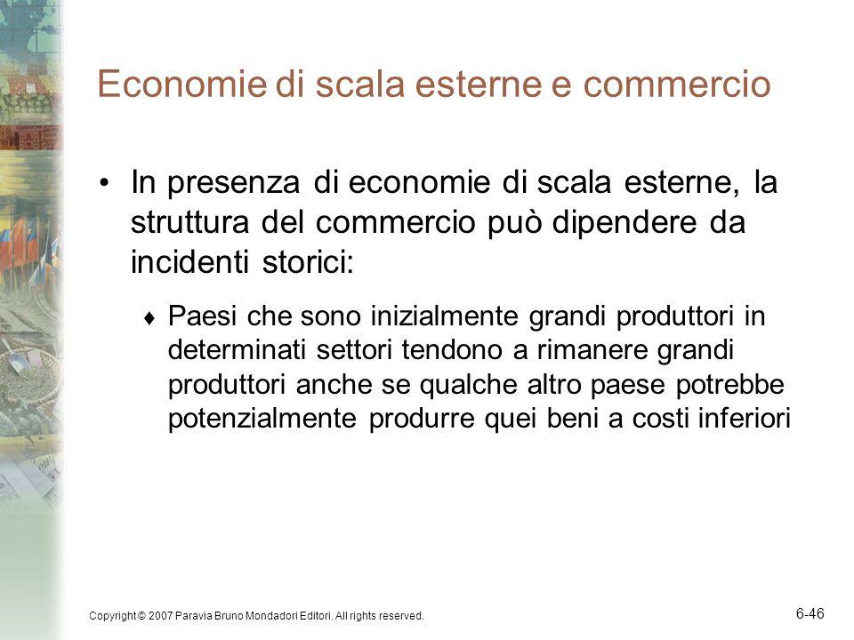 Economie di scala esterne e commercio
