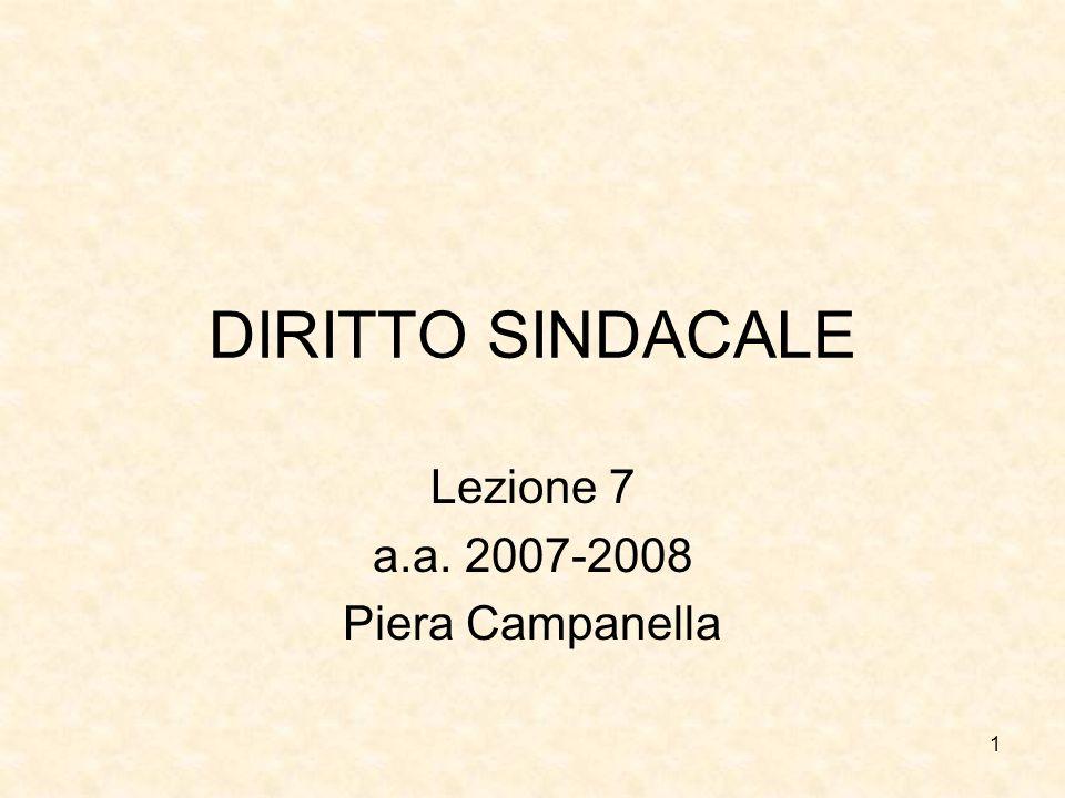 Lezione 7 a.a. 2007-2008 Piera Campanella
