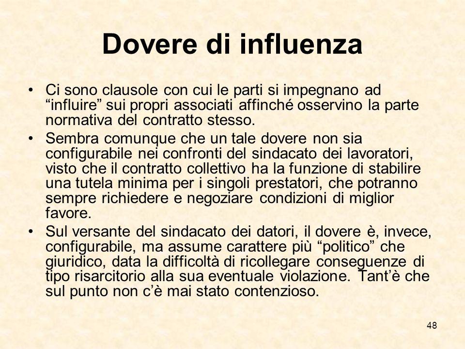 Dovere di influenza