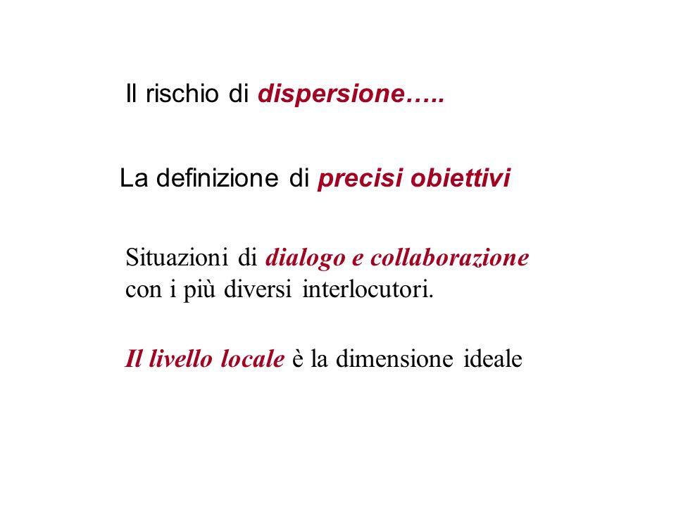 Il rischio di dispersione…..