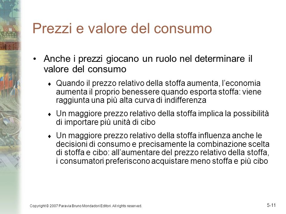 Prezzi e valore del consumo