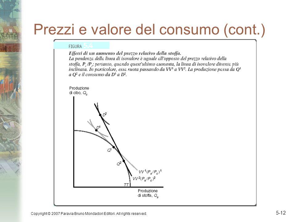 Prezzi e valore del consumo (cont.)