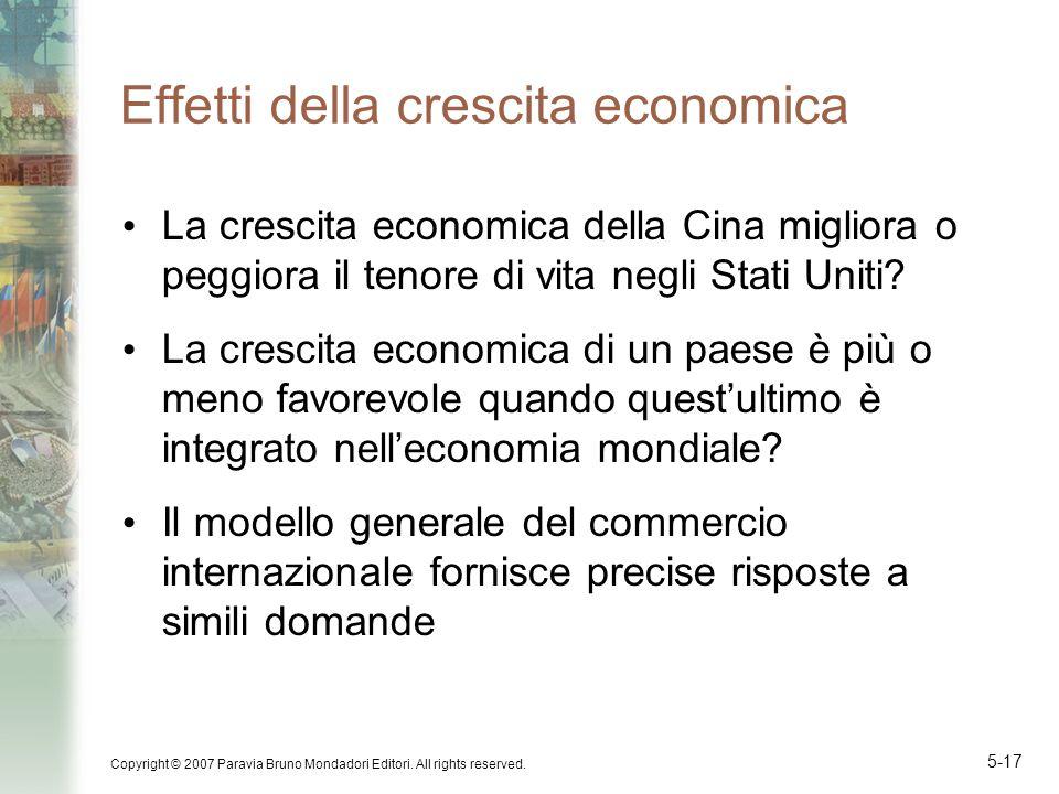 Effetti della crescita economica