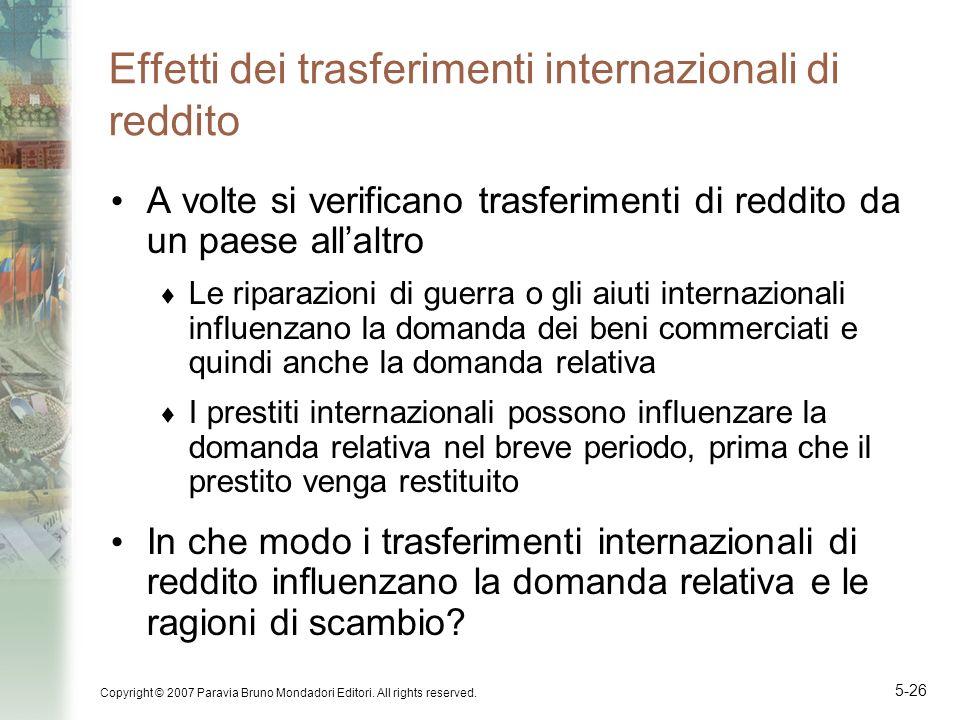 Effetti dei trasferimenti internazionali di reddito