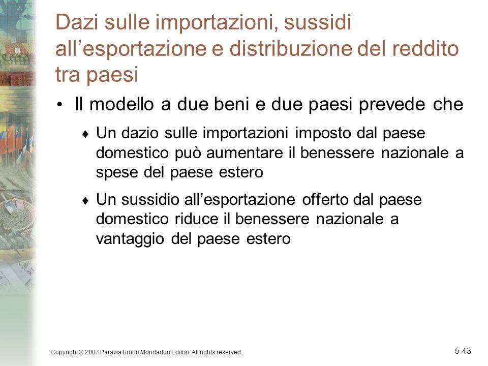 Dazi sulle importazioni, sussidi all'esportazione e distribuzione del reddito tra paesi