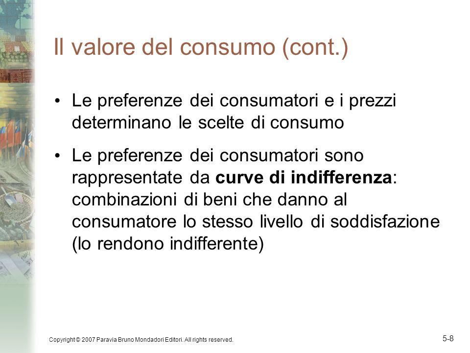 Il valore del consumo (cont.)