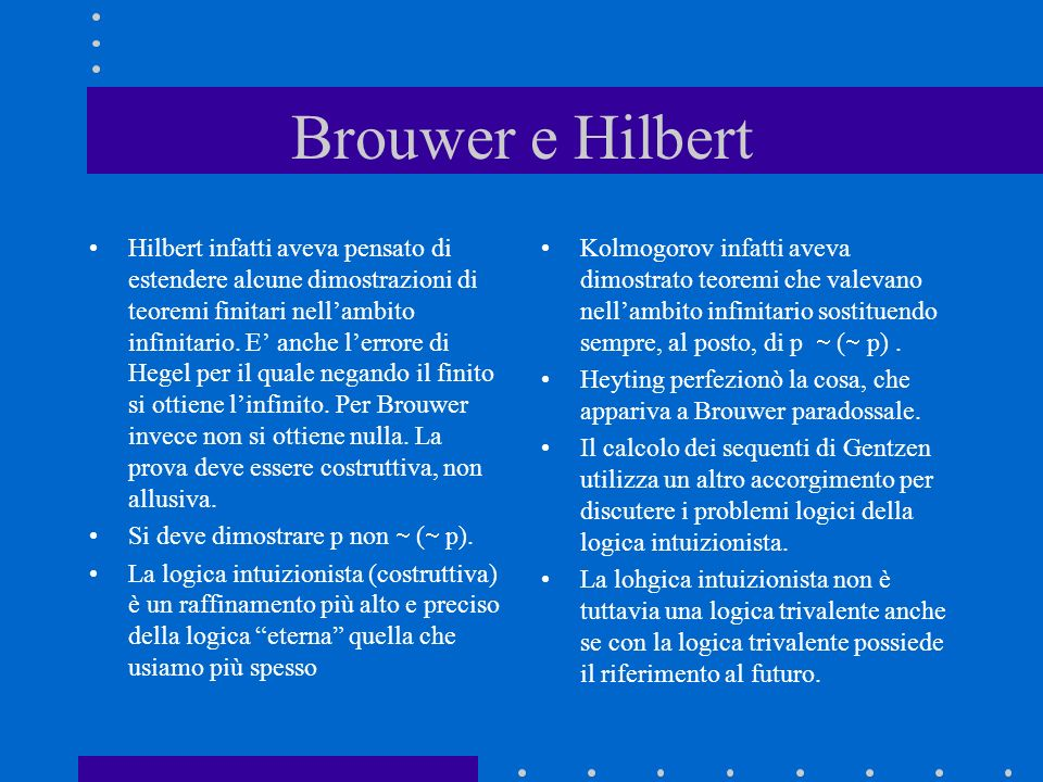 Brouwer e Hilbert
