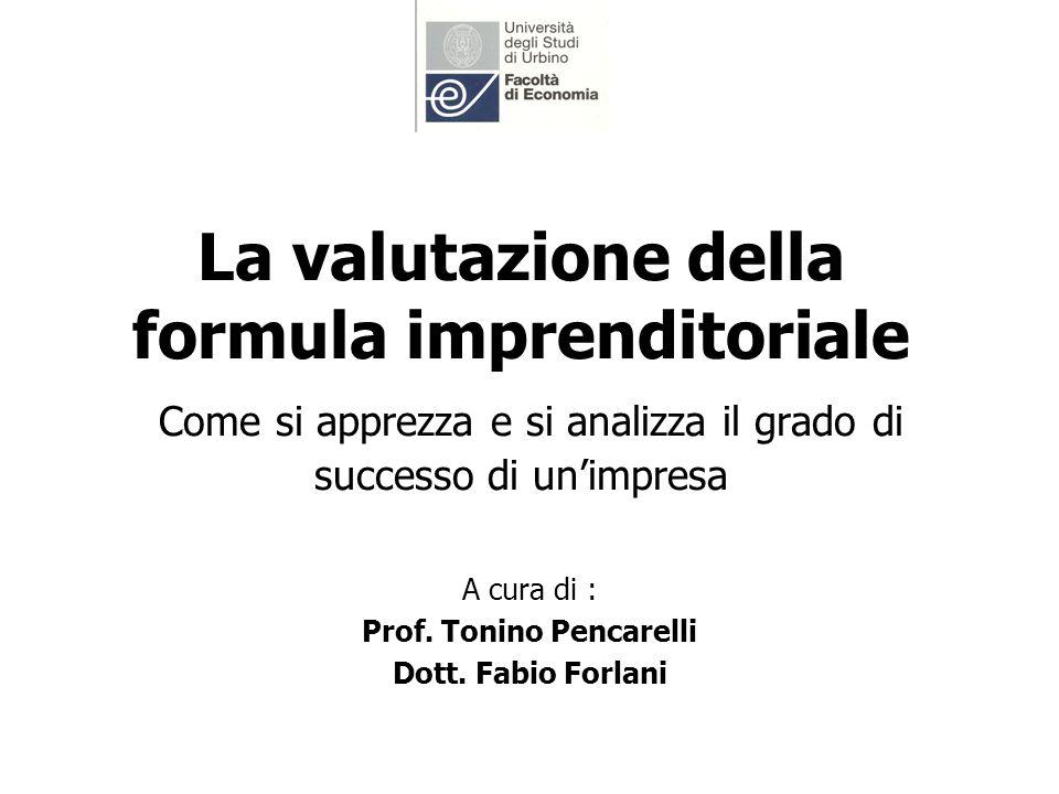 A cura di : Prof. Tonino Pencarelli Dott. Fabio Forlani