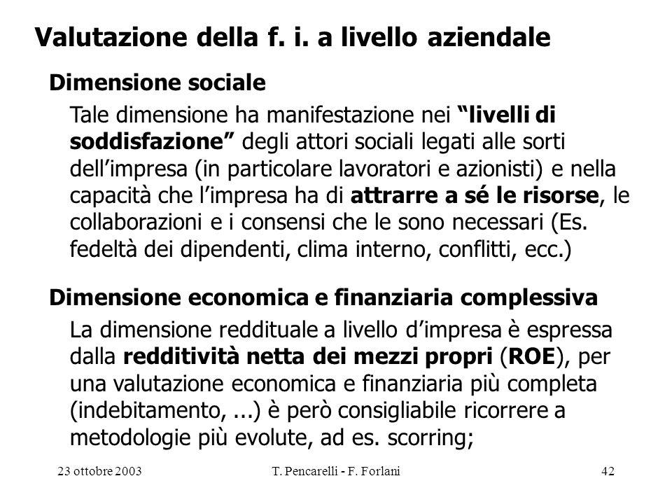 T. Pencarelli - F. Forlani