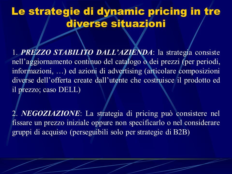 Le strategie di dynamic pricing in tre diverse situazioni