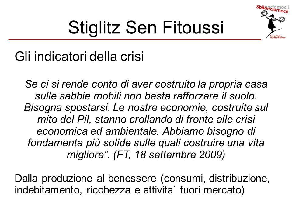 Stiglitz Sen Fitoussi Gli indicatori della crisi