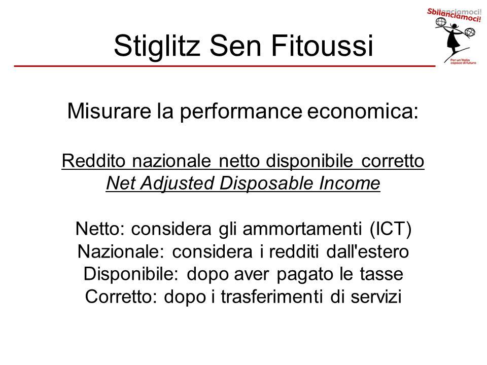 Stiglitz Sen Fitoussi Misurare la performance economica: