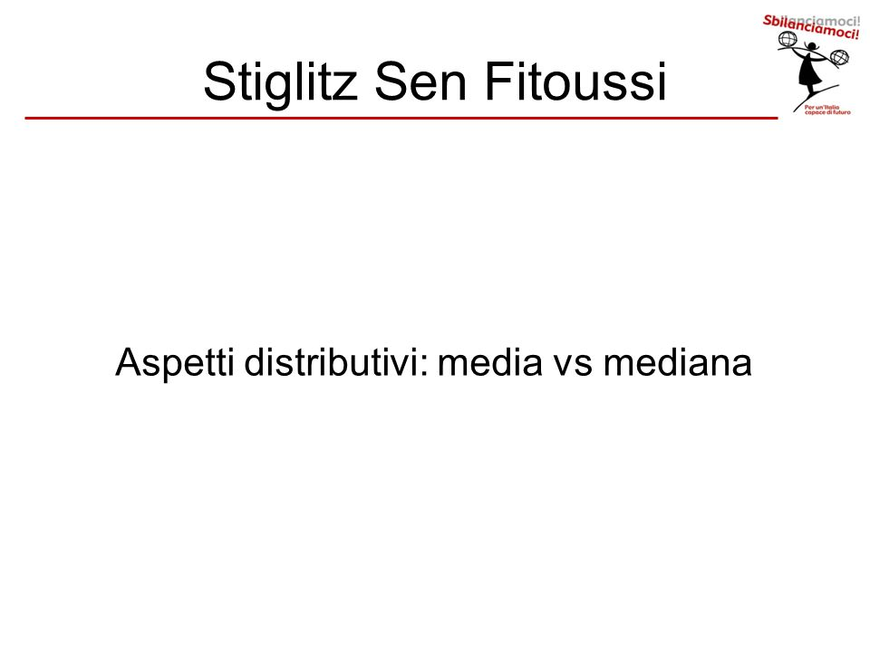 Aspetti distributivi: media vs mediana