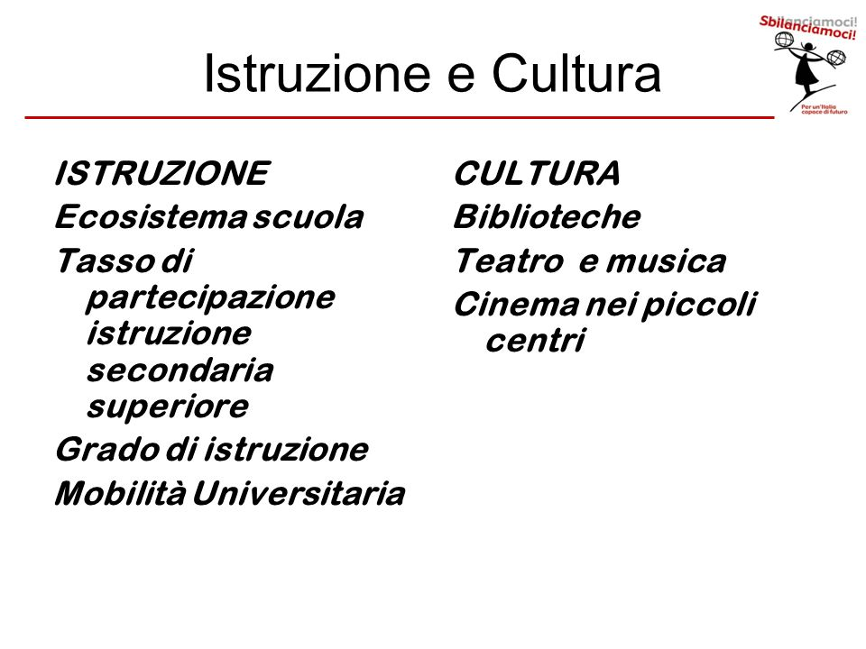 Istruzione e Cultura ISTRUZIONE Ecosistema scuola