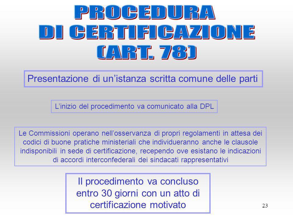 L'inizio del procedimento va comunicato alla DPL