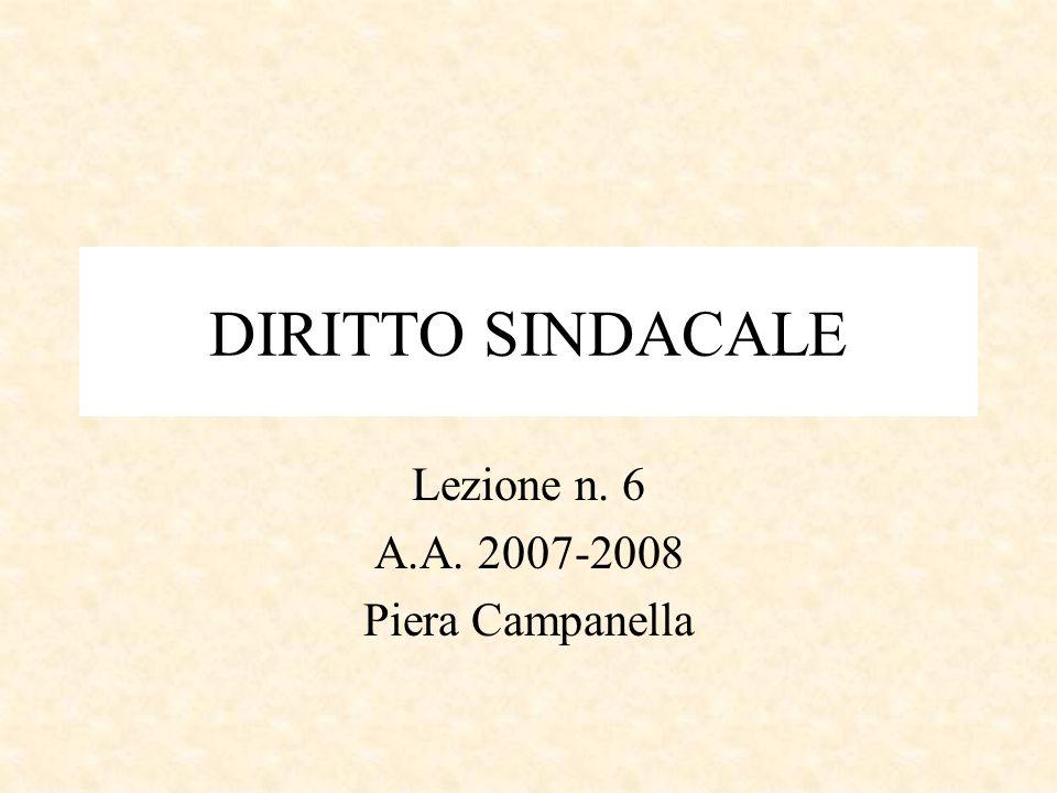 Lezione n. 6 A.A. 2007-2008 Piera Campanella
