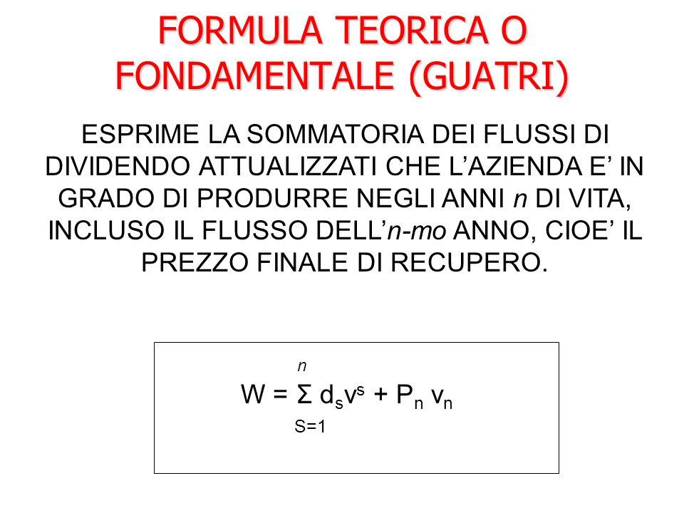 FORMULA TEORICA O FONDAMENTALE (GUATRI)