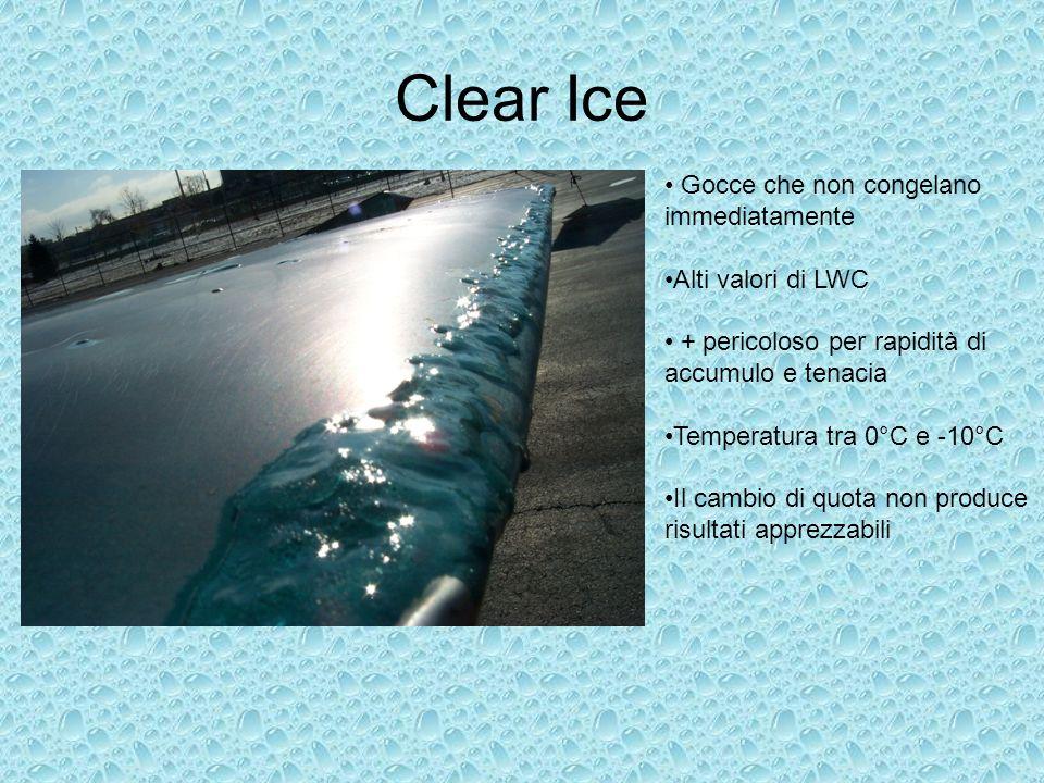Clear Ice Gocce che non congelano immediatamente Alti valori di LWC