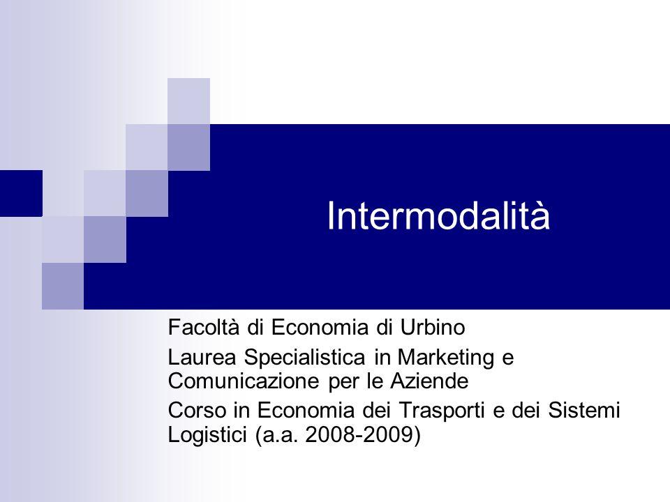 Intermodalità Facoltà di Economia di Urbino