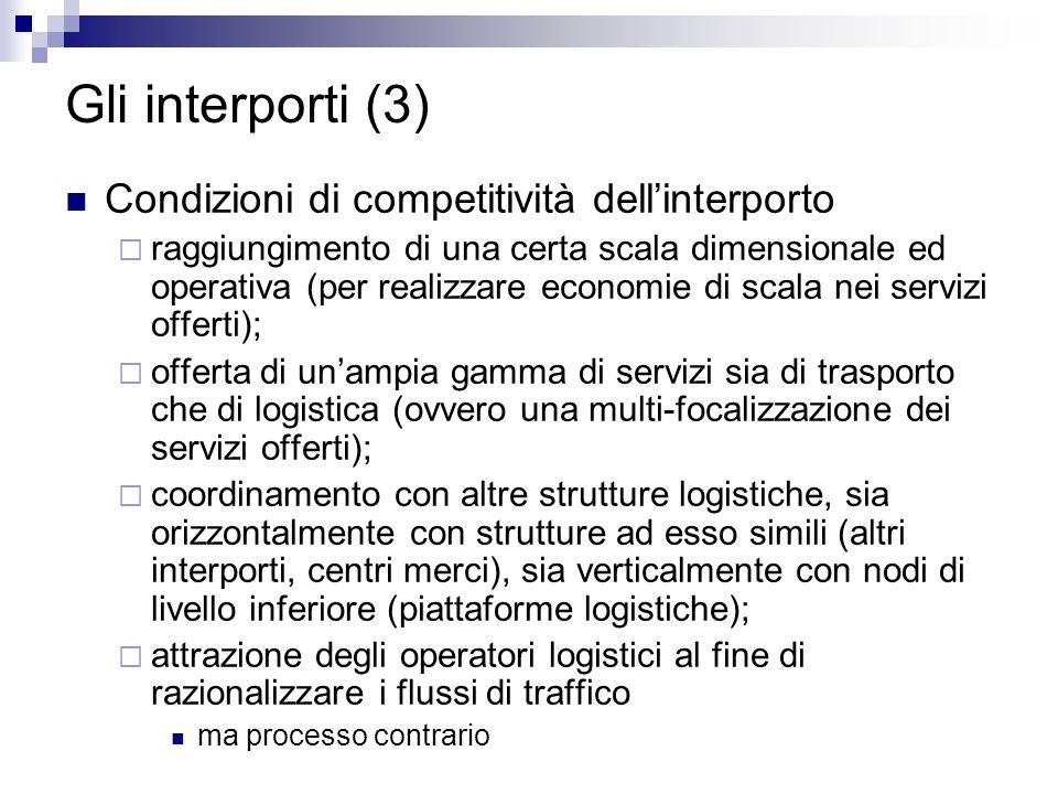 Gli interporti (3) Condizioni di competitività dell'interporto