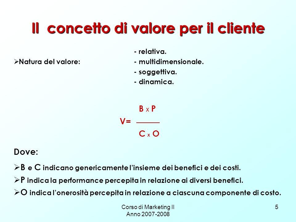 Il concetto di valore per il cliente