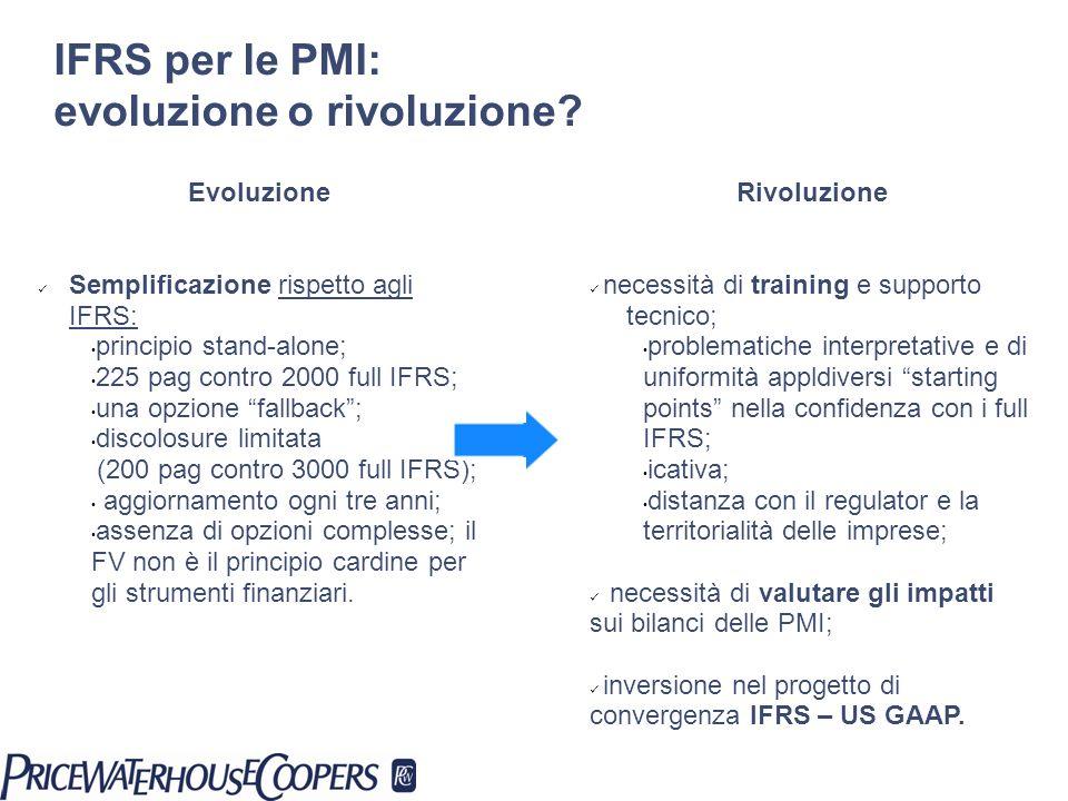 IFRS per le PMI: evoluzione o rivoluzione