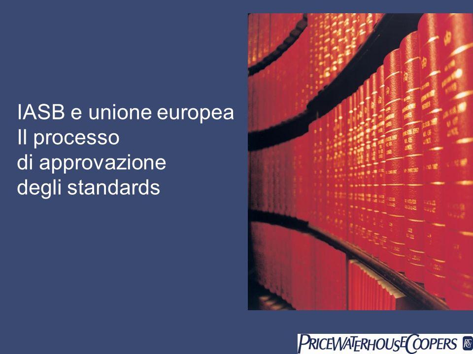 IASB e unione europea Il processo di approvazione degli standards