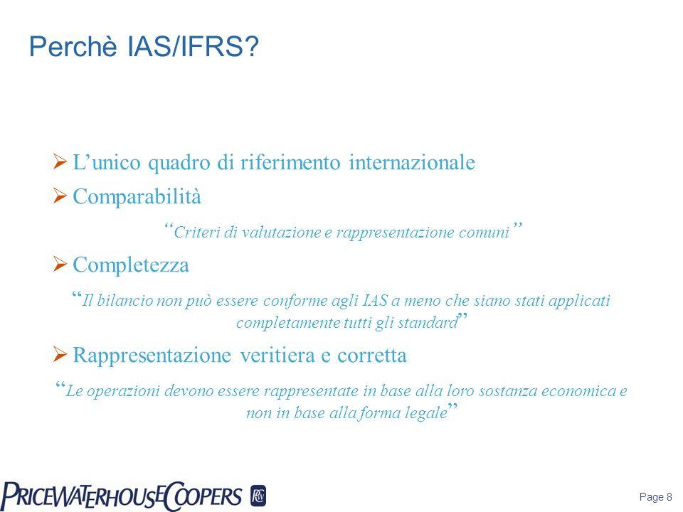 Criteri di valutazione e rappresentazione comuni