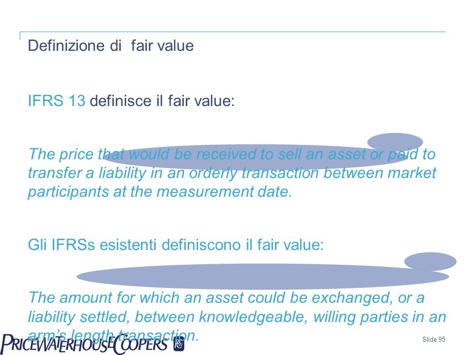 Definizione di fair value