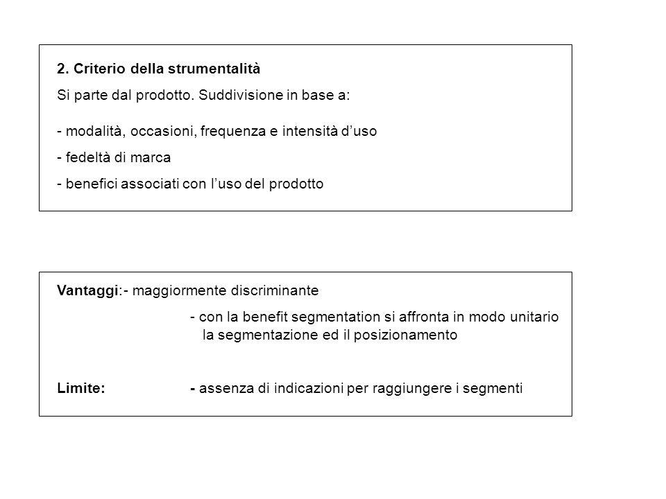 2. Criterio della strumentalità