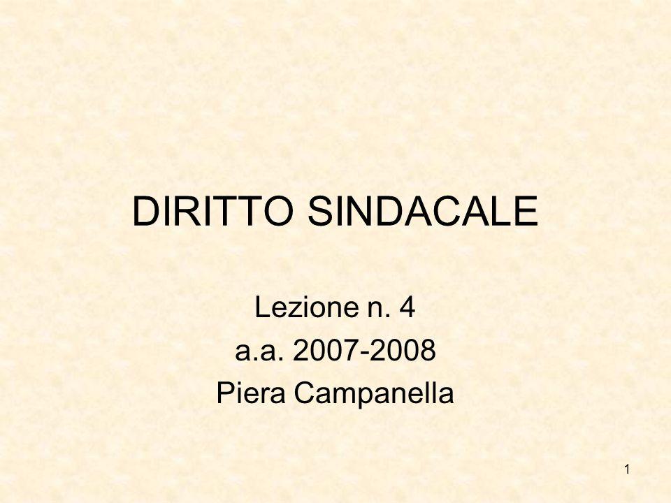 Lezione n. 4 a.a. 2007-2008 Piera Campanella