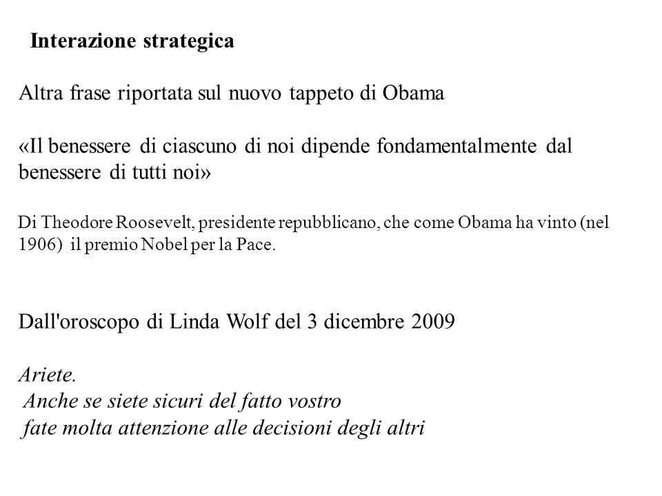 Interazione strategica