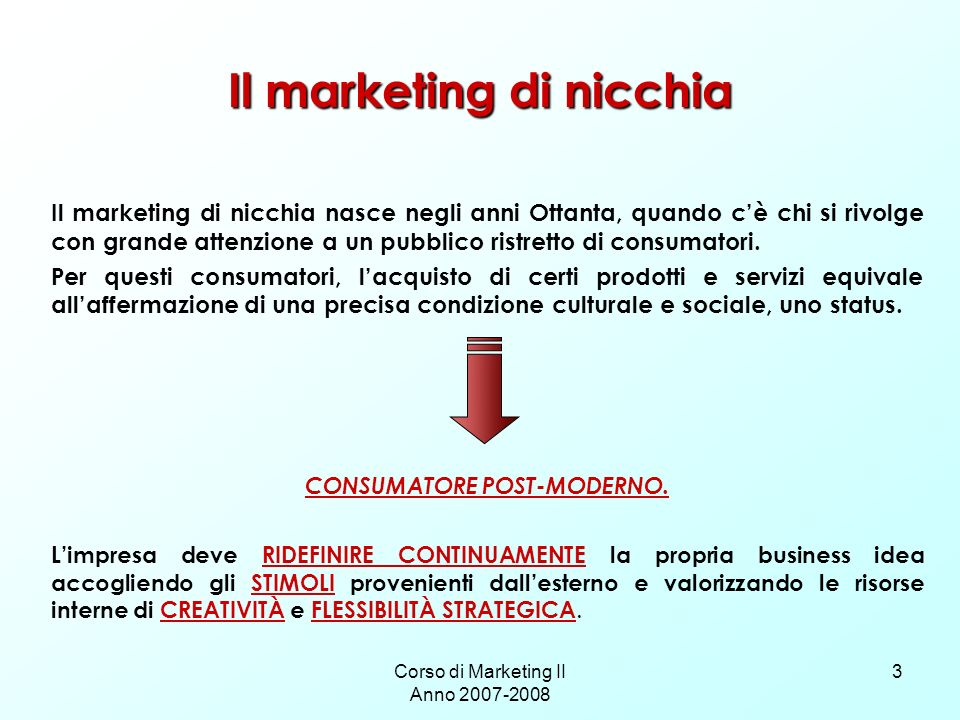 Il marketing di nicchia