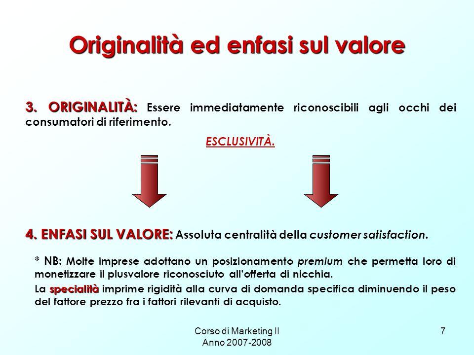 Originalità ed enfasi sul valore