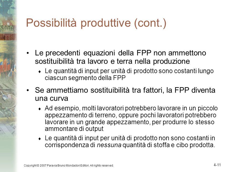 Possibilità produttive (cont.)