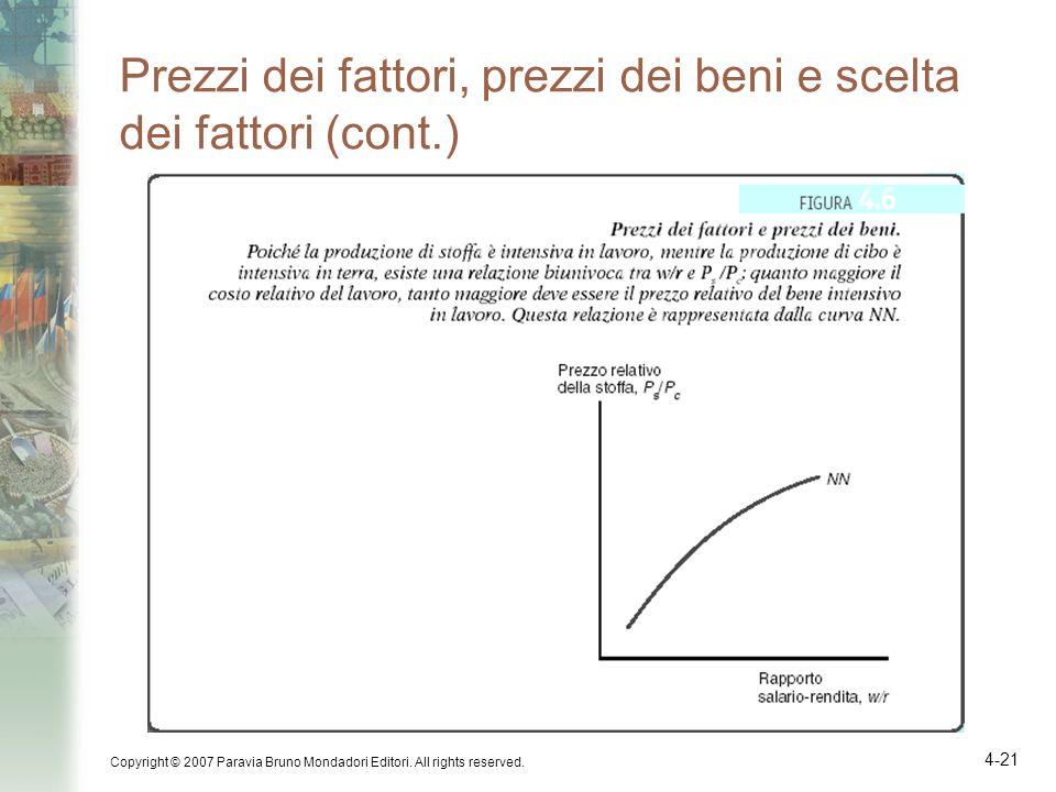 Prezzi dei fattori, prezzi dei beni e scelta dei fattori (cont.)
