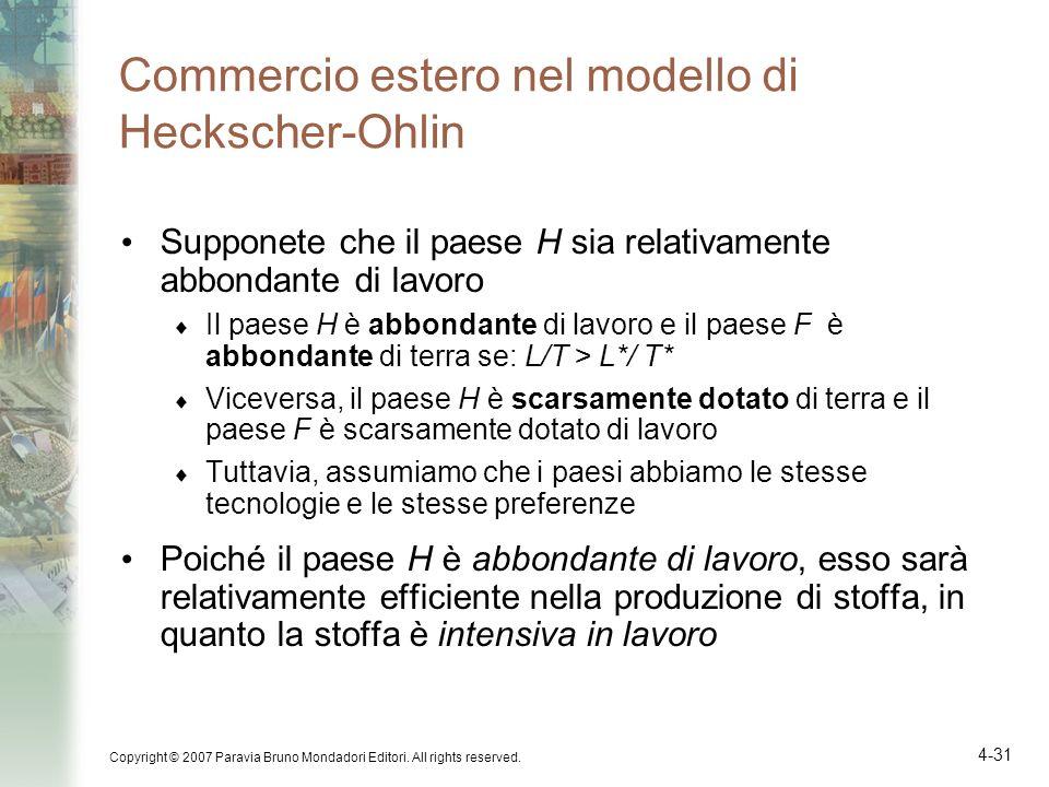 Commercio estero nel modello di Heckscher-Ohlin