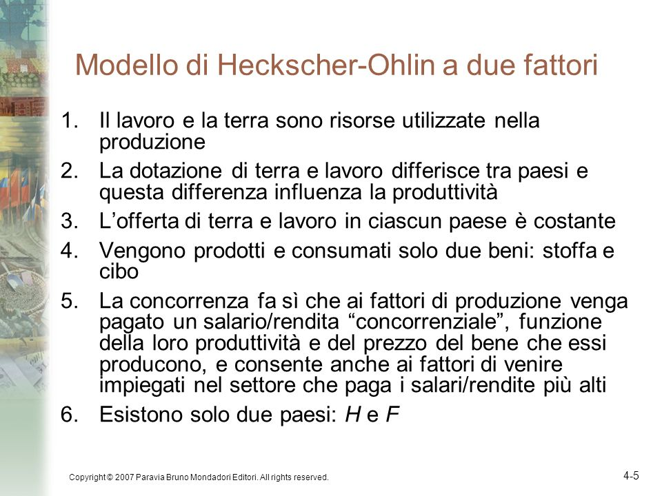Modello di Heckscher-Ohlin a due fattori